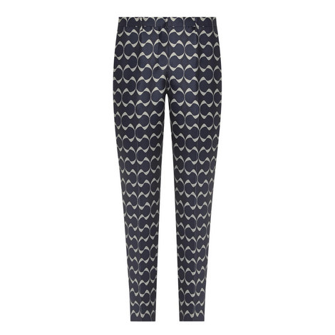 Brema Patterned Cropped Trousers, ${color}