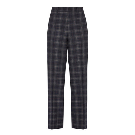Brianza Wide Fit Check Trousers , ${color}