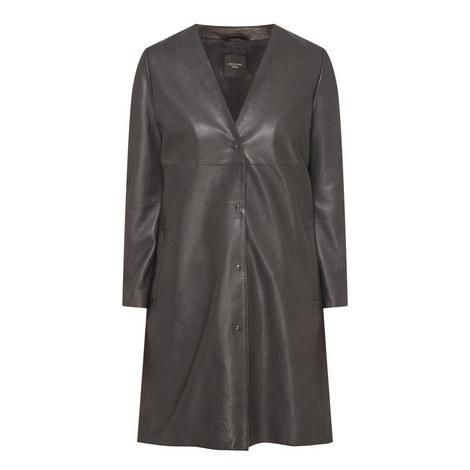 Delis Leather Coat, ${color}