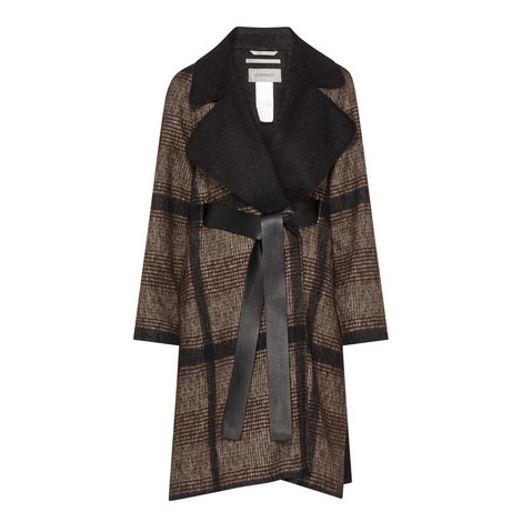 Cabala Checked Wool Mix Coat, ${color}
