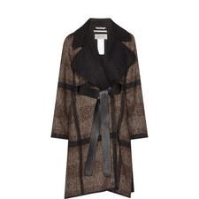 Cabala Checked Wool Mix Coat