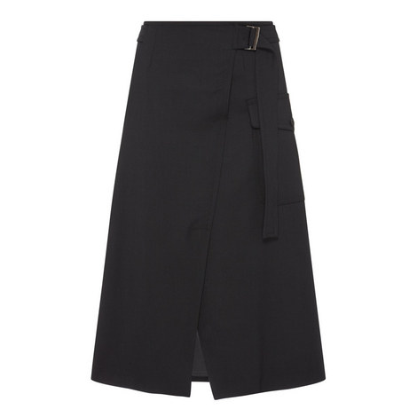 Classe Wrap Belted Skirt, ${color}