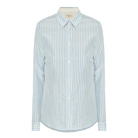 Cles Stripe Silk Shirt, ${color}