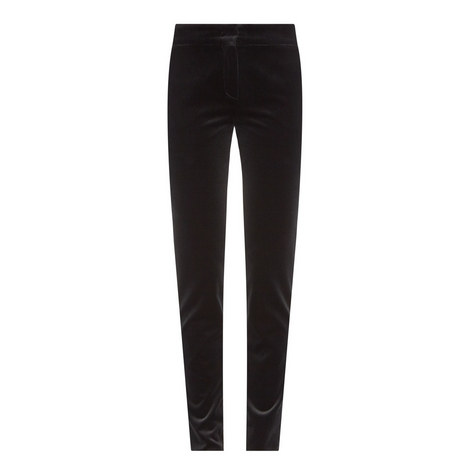 Cosa Tapered Velvet Trousers, ${color}