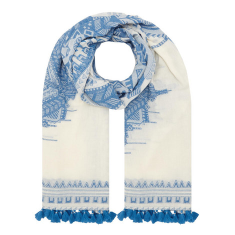 Cuneo Patterned Scarf , ${color}