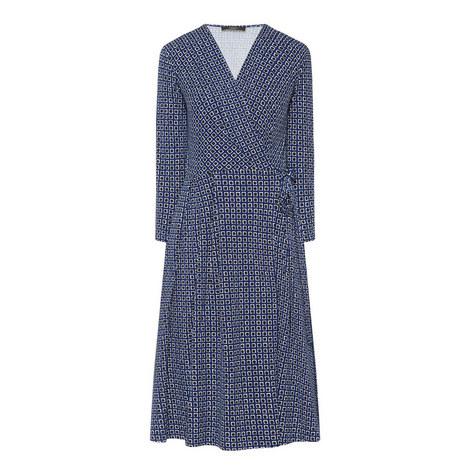 Square Pattern Wrap Dress, ${color}