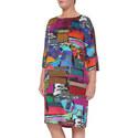 Danubio Multi Pattern Dress, ${color}