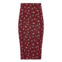 Dardano Cat Print Skirt, ${color}