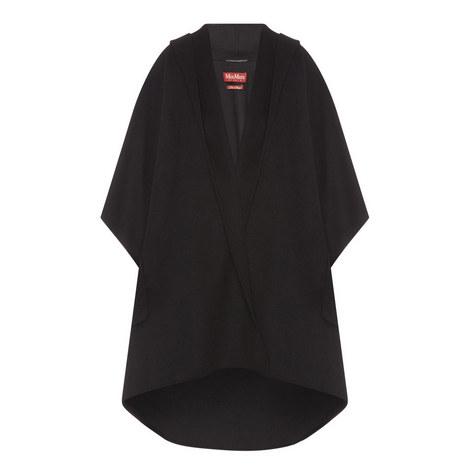 Davina Double Cashmere-Wool Cape, ${color}