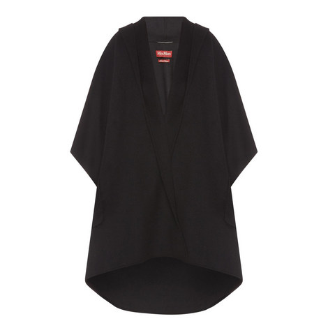 Davina Double Cashmere-Wool Cape, ${color}