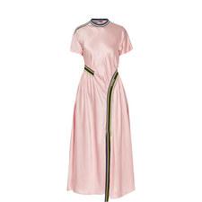 Desio Gathered Satin Dress