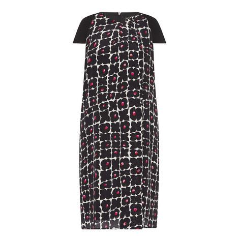 Duna Cap-Sleeve Patterned Dress, ${color}