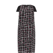 Duna Cap-Sleeve Patterned Dress
