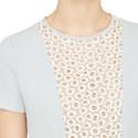 Ecru Short Sleeved Dress, ${color}