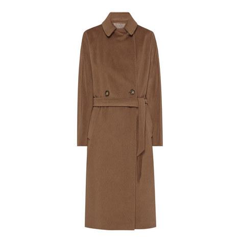 Enza Belted Long Coat, ${color}