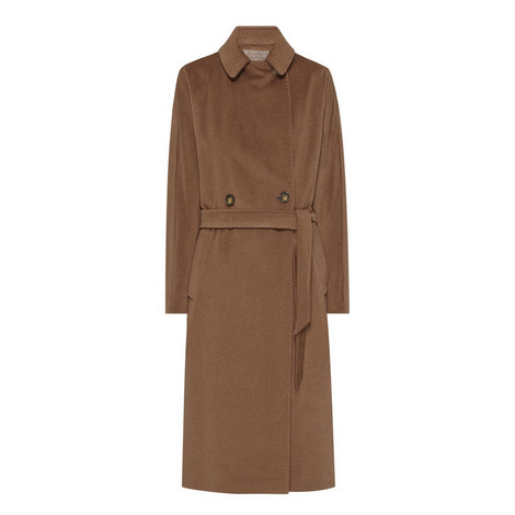 Enza Belted Long Coat, ${color}