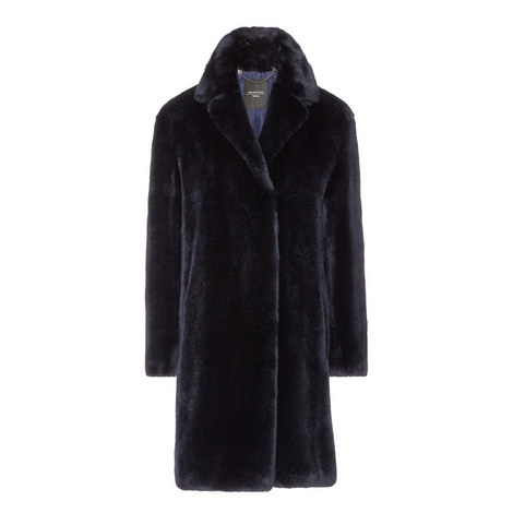 Evelin Faux Fur Coat, ${color}