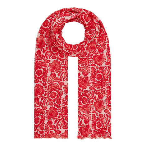 Faiti Floral Scarf, ${color}