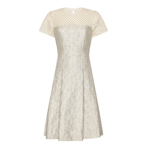 Falena Jacquard Dress, ${color}