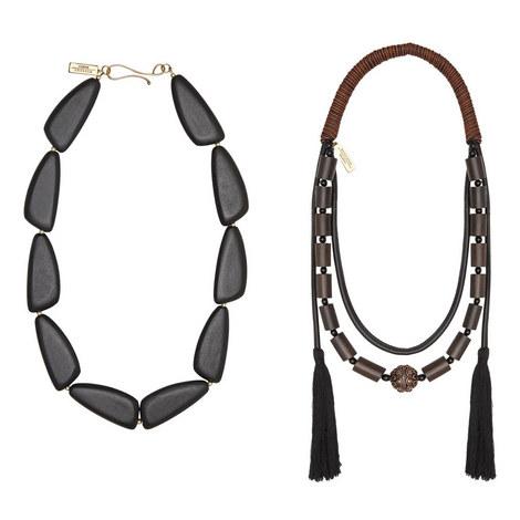 Multi Strand Tassel Necklace, ${color}