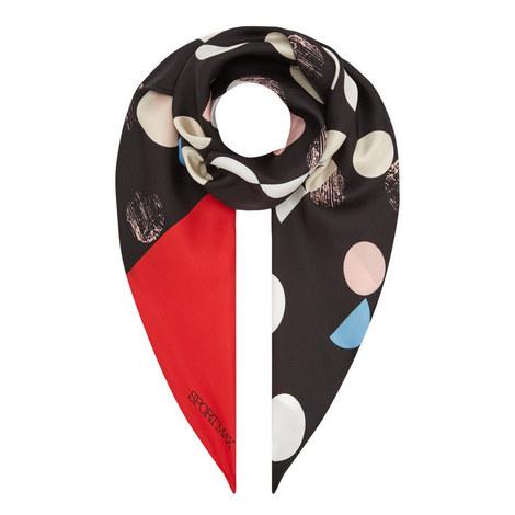 Polka Dot Silk Scarf, ${color}