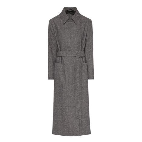 Fiumana Longline Wool Coat, ${color}