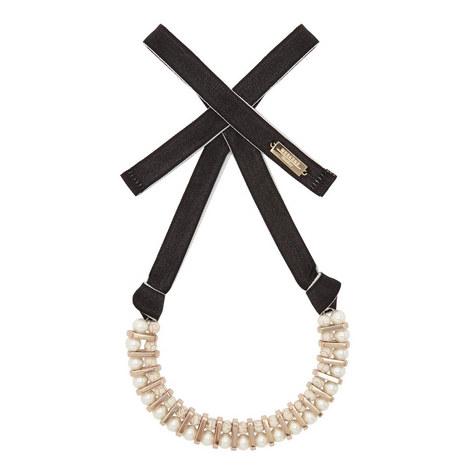 Gambero Pearl Tie Necklace, ${color}