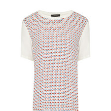 Geranio Patterned Front T-Shirt