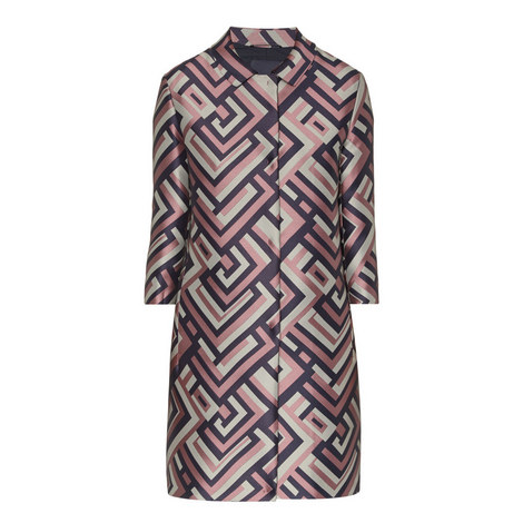Getto Patterned Coat, ${color}