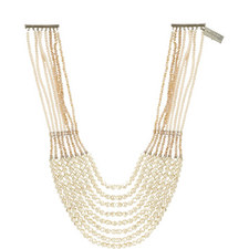 Ginnico Multi Pearl Chain Necklace
