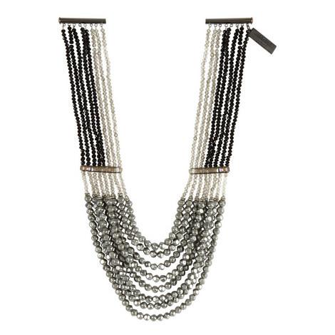 Ginnico Multi Pearl Chain Necklace, ${color}