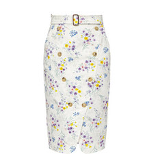 Ginseng Lavender Print Skirt