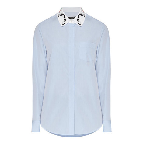 Ginseng Cat Collar Shirt, ${color}