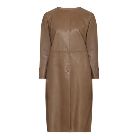 Gioire Leather Coat, ${color}