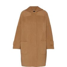 Hooded Cocoon Coat