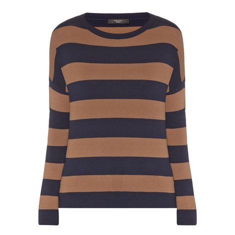 Hidesia Stripe Knitted Sweater, ${color}