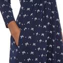 Klausen Bow Print Dress, ${color}