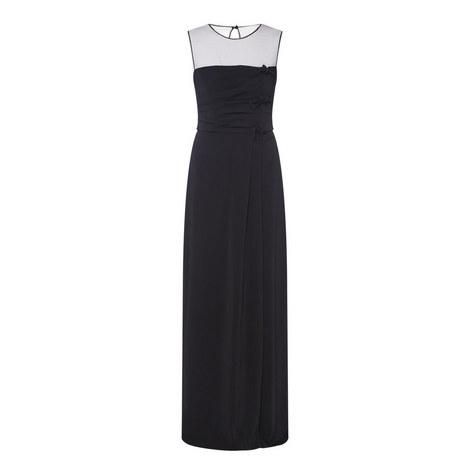 Bow Long Dress , ${color}