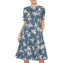 Latino Floral Print Dress, ${color}