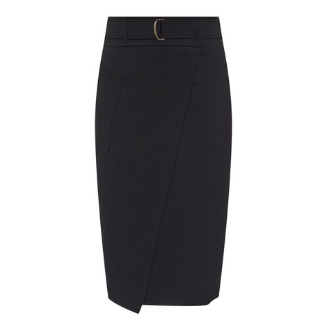 Belted Wrap Skirt, ${color}