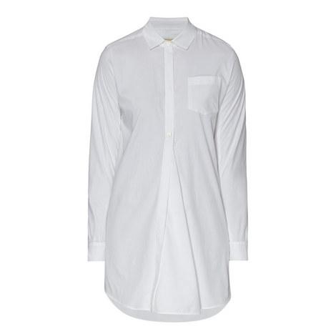 Leale Longline Poplin Shirt, ${color}