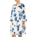 Lelia Floral Ruffle Cuff Dress, ${color}