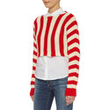 Linz Stripe Cropped Sweater, ${color}