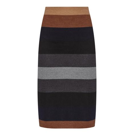 Marea Stripe Jersey Skirt, ${color}