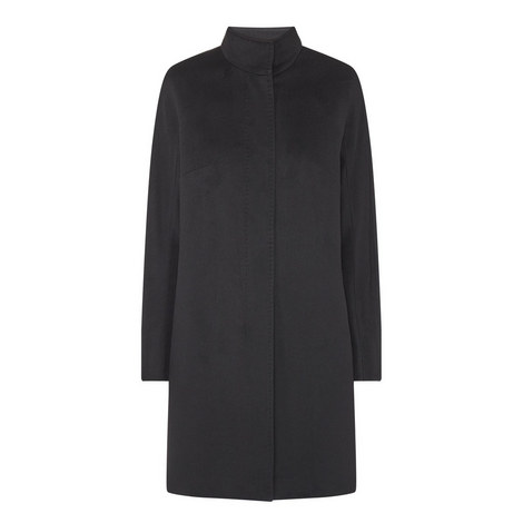 Melina Funnel Neck Wool Coat, ${color}
