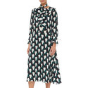 Morena Printed Silk Dress, ${color}