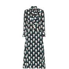 Morena Printed Silk Dress