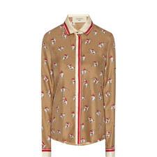 Muscari Horse Print Shirt