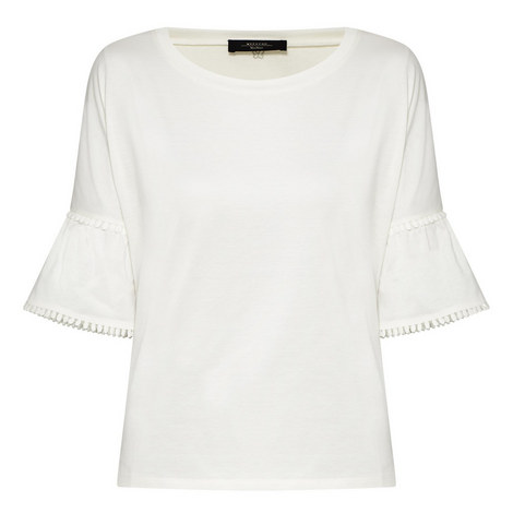 Nerone Ruffle Sleeve Blouse, ${color}