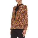 Nina Patterned Bow Silk Blouse, ${color}